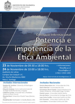 filigrana trabajó durante el Coloquio Internacional de Etica Ambiental
