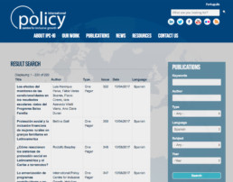 Filigrana Traducciones - Traducciones de inglés a español para el International Policy Centre for Inclusive Growth