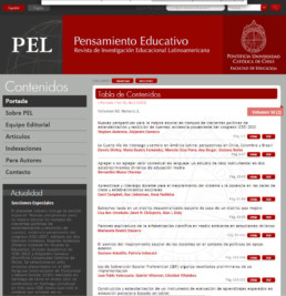 revista semestral Pensamiento Educativo Latinoamericano corrección